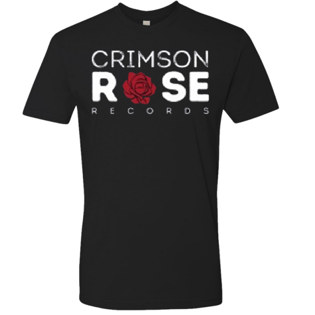 Crimson Rose Records Unisex Black Logo Tee