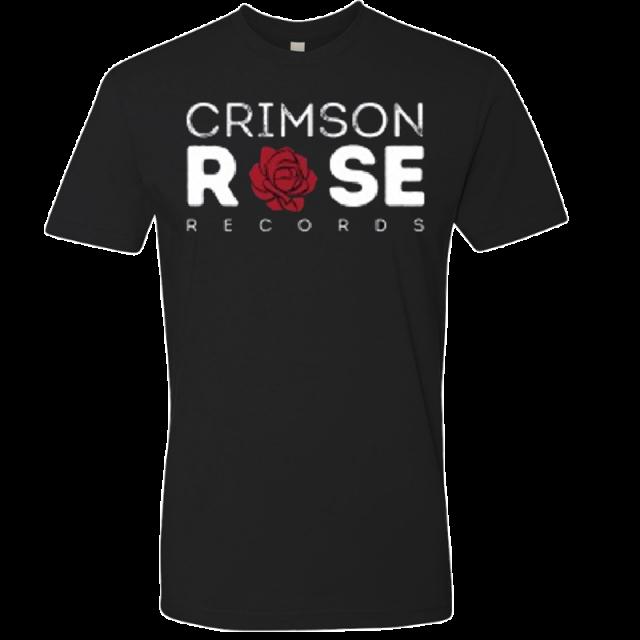 Crimson Rose Records Unisex Black Logo Tee